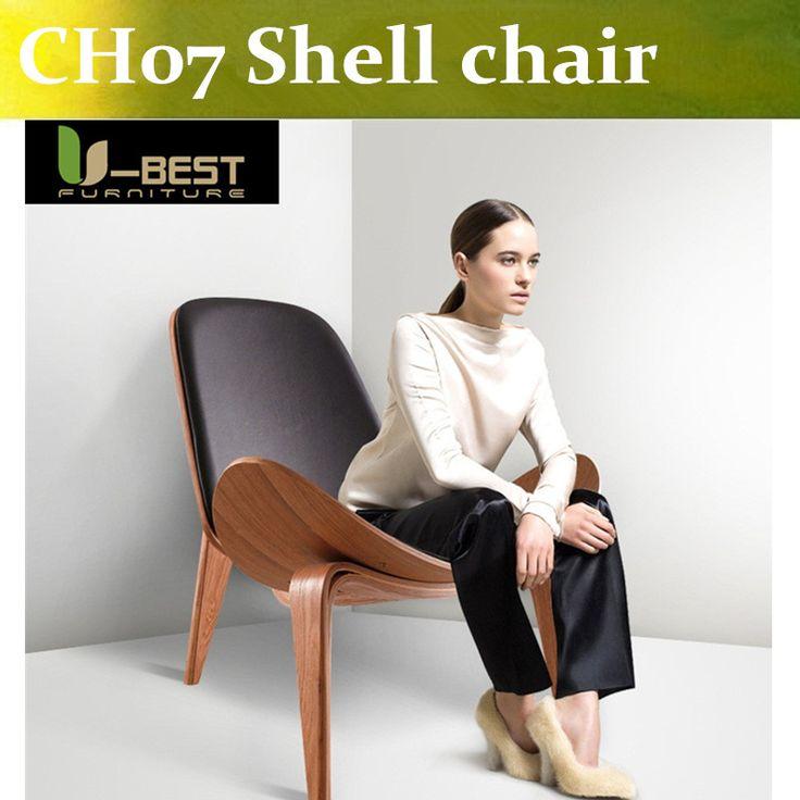 Free shipping CH07 Shell Chair Premium Office Chairs,midcentury modern smiling chair by Danish designer Hans J. Wegner