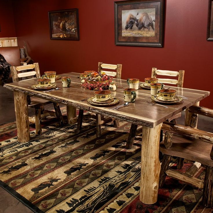 Black walnut rustic dining table walnut dining table for Rustic home bar furniture