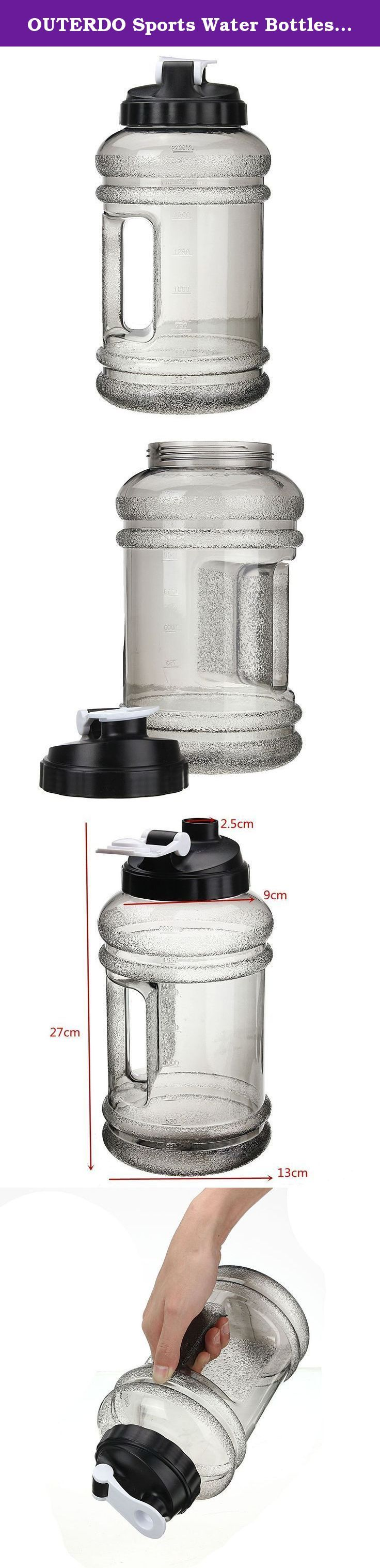 OUTERDO Sports Water Bottles 2.2 Liter BPA Free High-Capacity Water Bottles With Handle and Push Cap for Outdoor Sports Bodybuilding, Playing Basketball ,Camping Trips and to the gym. Features: 1. Big Capacity, with 2.2L, meet your water need in sports. 2. Ideal for outdoor sports like bodybuilding, playing basketball etc, also a nice choice for picnic, party and so on. 3. BPA Free, not suitable for hot liquid. 4. With handle and push cap, easy to carry. Specifications…
