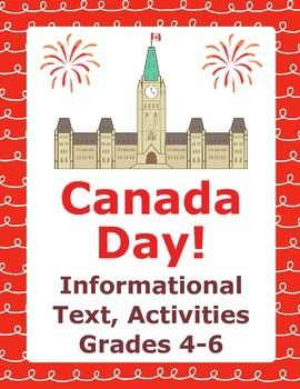 Canada Day! includes the following:1.  An approximately 500-word informational text titled How Canada Became a Country.  This is an historical look at the events that led to Confederation on July 1st in 1867;2. and 3. Two pages of vocabulary work, opinion questions, comprehension questions, and main idea questions to accompany the informational text;4.