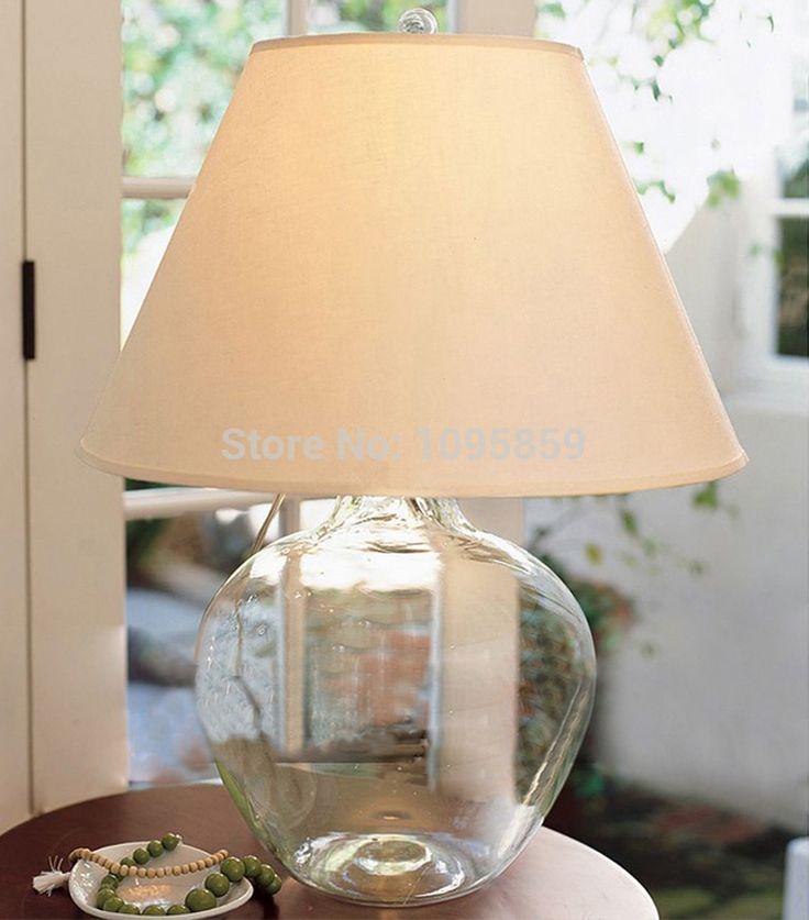 Modern Nordic Style Dining Room Clear Glass Vase Table Lamp Light Desk Bedside…