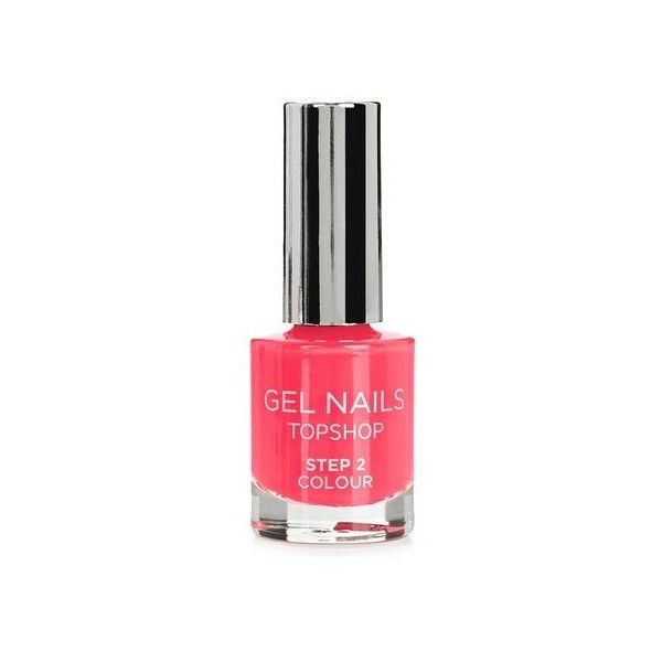 TopShop Gel Nail Colour in Tombola ($10) ❤ liked on Polyvore featuring beauty products, nail care, nail polish, coral, gel nail care, topshop nail polish, polishing kit, gel manicure kit and gel polish kit