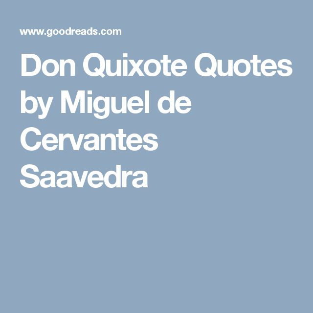Cervantes - Don Quixote