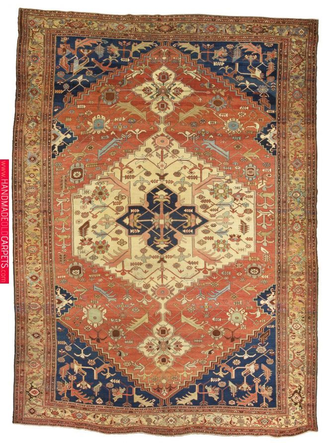 A Heriz Carpet Northwest Persia Approximately 481 By 351cm 15ft 9in 11ft 6in Circa 1890 Rugs Serapi Heriz Pinterest Carpet Antique Persian Carpet Rugs On Carpet Antique Carpets