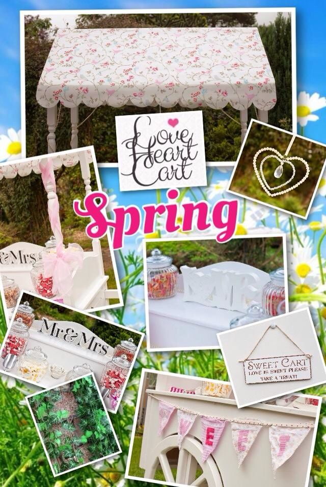 Spring Wedding Inspiration Board by www.facebook.com/loveheartcart