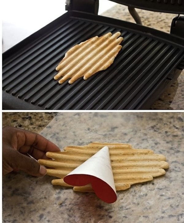 Make homemade waffle cones. | 18 Surprising Things You Can Make In A Panini Press