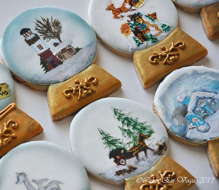 Pictures Of Decorated Christmas Sugar Cookies: 1864 Best Images About Decorated Cakes On Pinterest