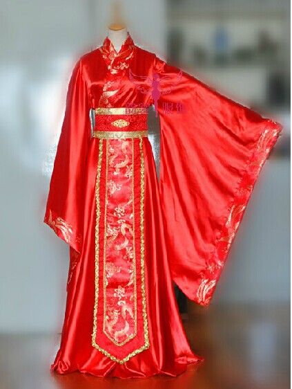 blij rode bruiloft kostuum wijde mouw chinese male Hanfu tang pak cosplay kleding keizer kleren voor mannen 33.jpg