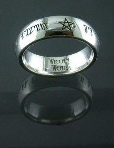 Theban Script Sterling Silver Ring As Above So Below A Beautifully Hand Crafted Band