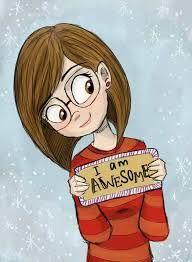 Image result for cute cartoon girl drawing posing