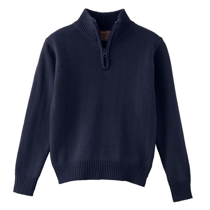 Boys 8-20 Eddie Bauer Quarter-Zip Sweater, Boy's, Size: 14-16, Blue