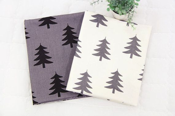 * This listing is for 1 yard of one color. Please make your selection during checkout (Ivory or Dark Gray).  * 100% Cotton Oxford with tree print  * For