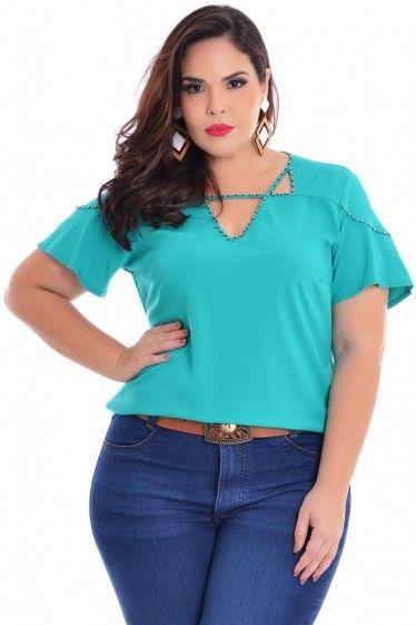 Blusa Plus Size Acquarella
