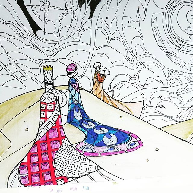 The Feast Of Epiphany Just Passed Where We Celebrate Revelation Messiah To Gentiles A Scene From Our Adult Coloring Book With Scenes