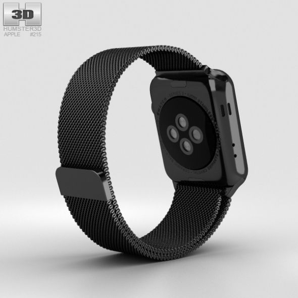 Apple Watch Series 2 42mm Space Black Stainless Steel Case Black Milanese Loop Apple Watch Series 2 Apple Watch Black Stainless Steel