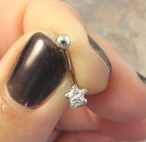 Tiny Crystal Star Eyebrow Ring Rook Ear Piercing on Etsy, $9.00
