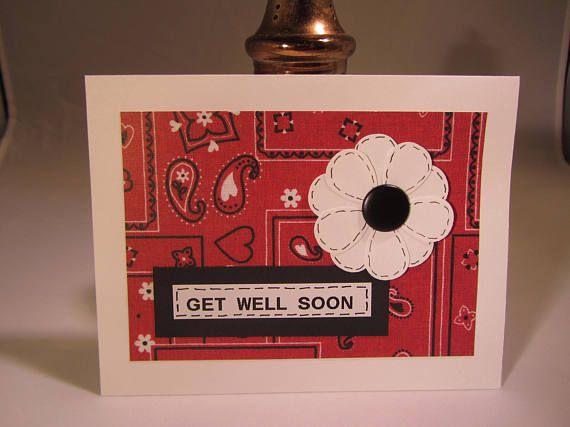 Get Well Soon Card.  Blank Card.  A2 Envelope