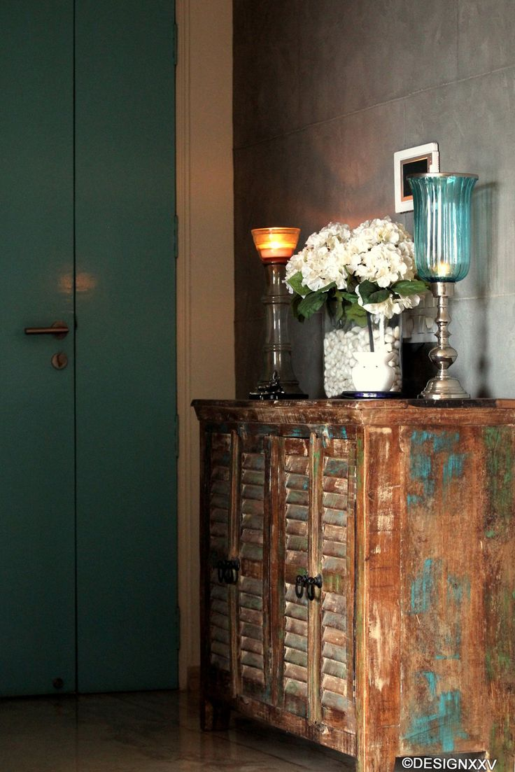 Give Your Furniture A Rustic Look With Patches Of Teals And Turquoise Design Courtesy MumbaiTeal