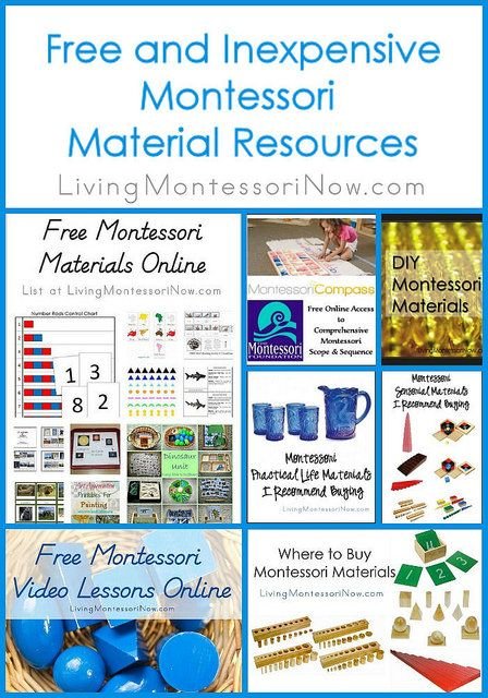 LOTS of Montessori material resources for Montessori teachers, preschool teachers, and Montessori homeschoolers