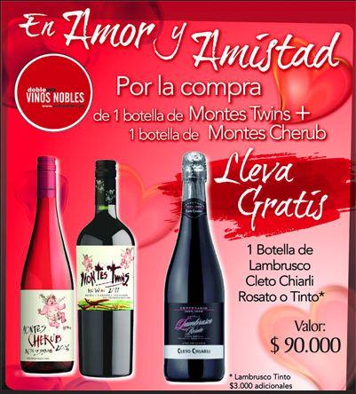 Vinos Nobles quiere celebrar contigo en este mes de Amor y Amistad.