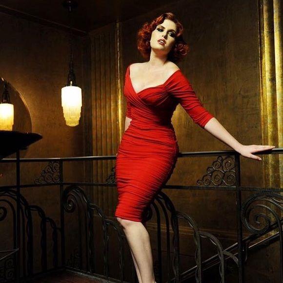Laura k red dress zebra