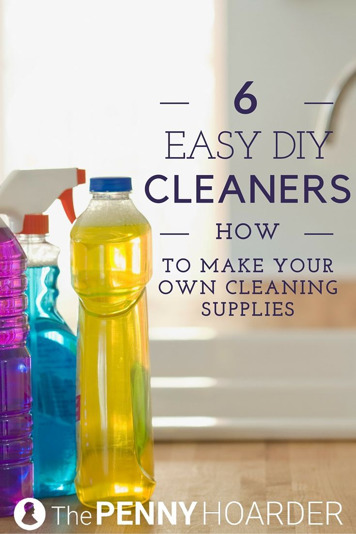Want to use eco-friendly cleaners but don't want to spend a ton of money? Try these recipes for homemade cleaning supplies that use inexpensive and mostly natural ingredients. You'll have a sparkling-clean house in no time! - The Penny Hoarder http://www.thepennyhoarder.com/easy-diy-cleaners/