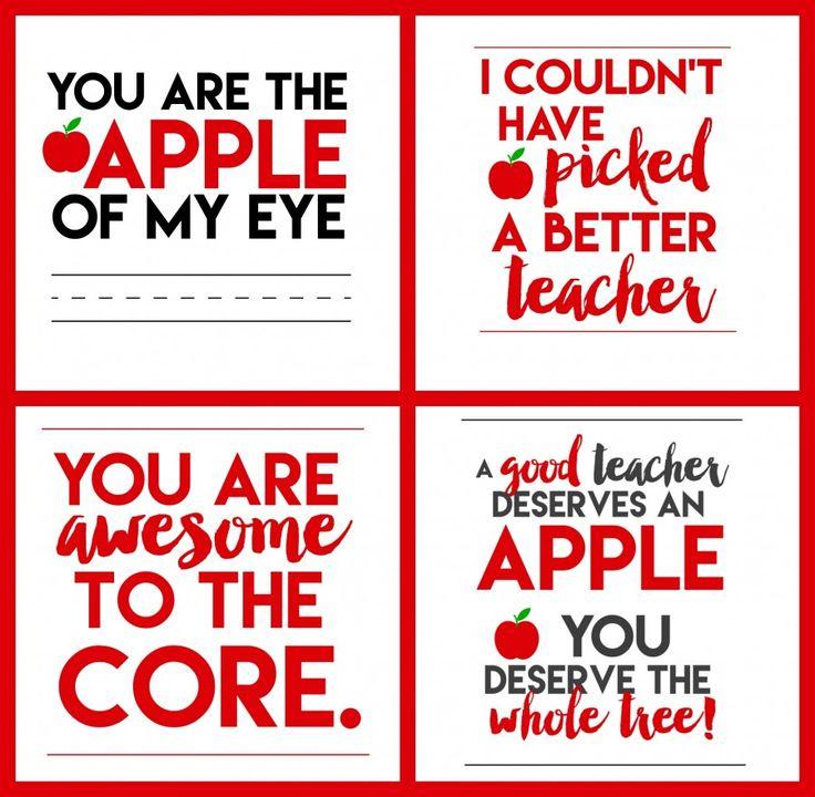 Free Apple for Teacher Printables