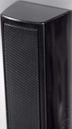 kd Panasonic SC-BT735 Smukły profil kolumny skłonił do zaprojektowania głośników z prostokątnymi membranami. cena ok. 3200 zł