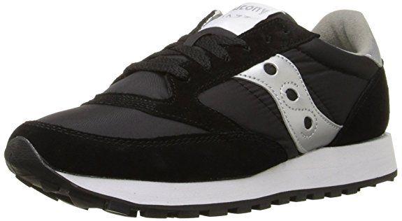92b645d141577 Saucony Originals Women's Jazz Original Classic Retro Sneaker Black/Silver  | Trendy Stylish Sneaker