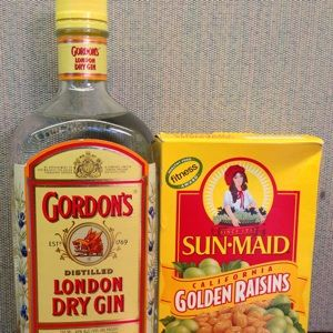 Which Gin for Gin-Soaked Raisins? Home Remedy - The People's Pharmacy®  The gin must have real juniper berries in its distillation (not juniper flavoring). The rainsins must be golden variety. This is a joint pain remedy.