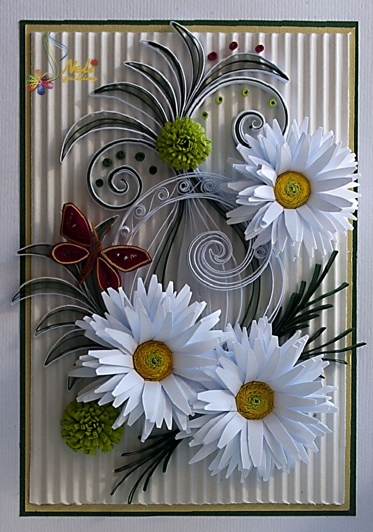 Украсить цветком открытку