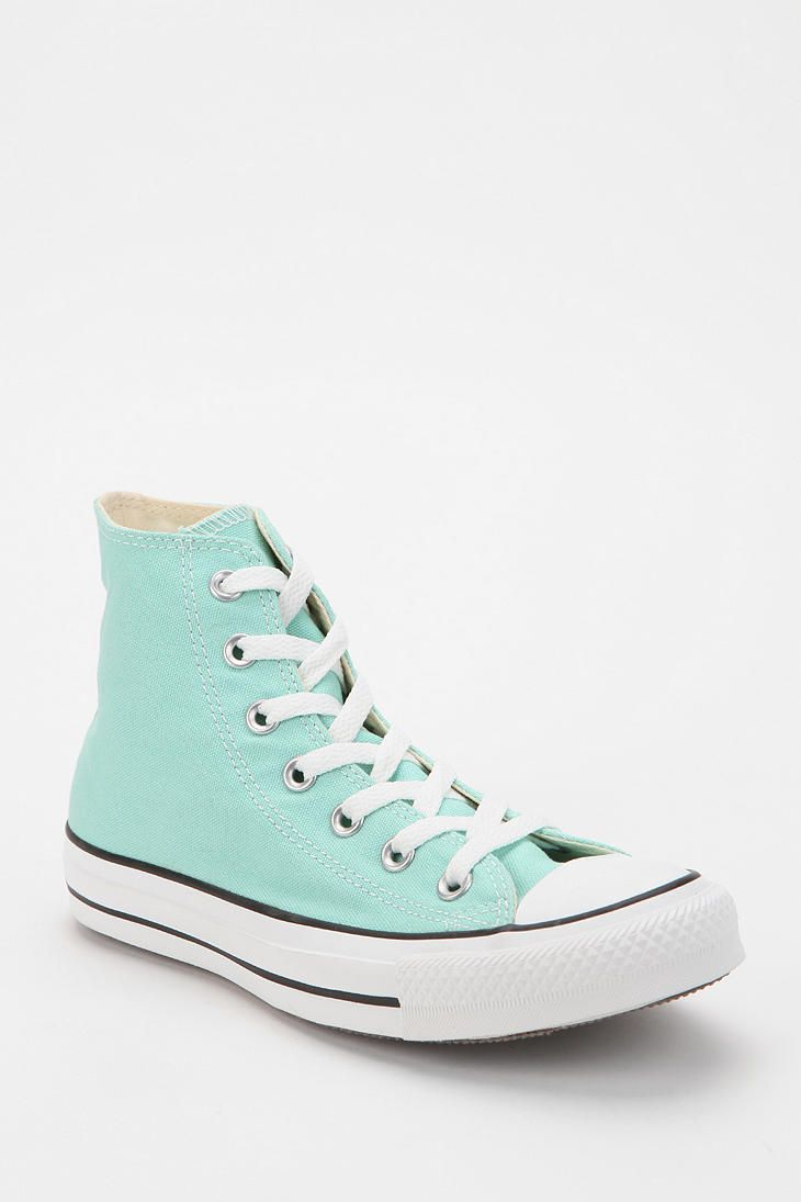 Turquoise Converse Chuck Taylor All Star High-Top Sneaker. Size:12
