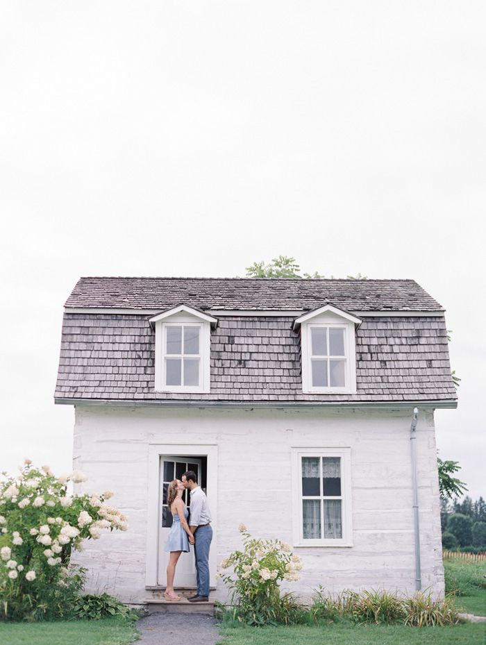 Stephanie and Alex at Cumberland Museum: Homeowner Kiss, Little Houses, Engagement Photos, Tiny Houses, Cumberland Museums, Engagement Sessions, Couple