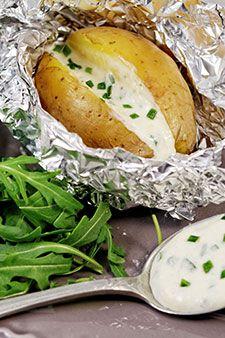 Pommes de terre au four au Camembert Cœur de lion
