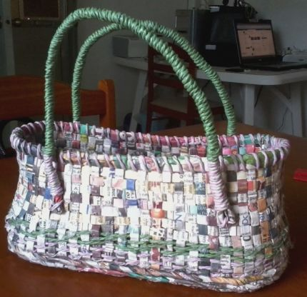 Recycled paper Bag or Basket.