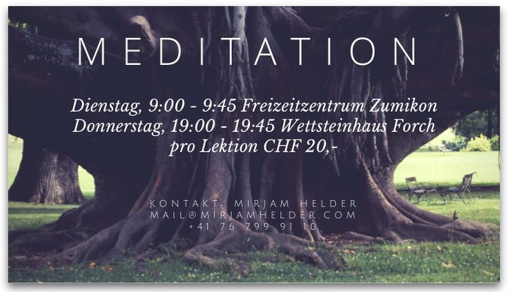 My meditation course in Switzerland