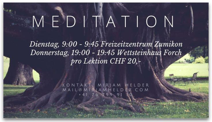 My meditation course in Switzerland