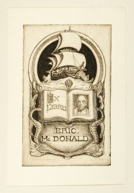 Etched book-plates / Harold Byrne ; with an introduction by John Lane Mullins | Douglas Stewart Fine Books