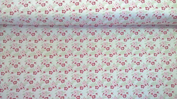 Stoff Blumen - Tilda Quilt Collection Rosen Zoe white - ein Designerstück von Stoffe-guenstig-kaufen bei DaWanda