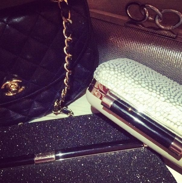 DVF clutches and a beautiful Vintage Chanel!