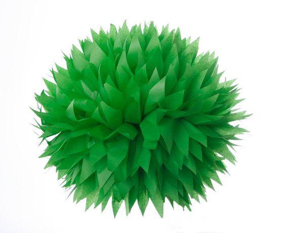 Grass Green  1 Large Tissue Paper Pom Poms by PomGarden on Etsy, $4.00