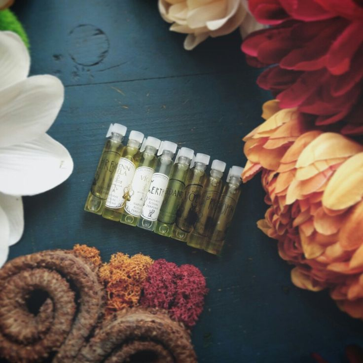 New thematic sampler sets are up. Light florals, sultry heady florals and new mossy, green scents!