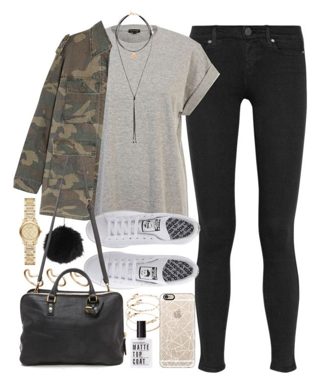 """""""Outfit for autumn"""" by ferned ❤ liked on Polyvore featuring Paige Denim, River Island, Topshop, ASOS, Yves Saint Laurent, Casetify, adidas, Liebeskind, Forever New and Burberry"""