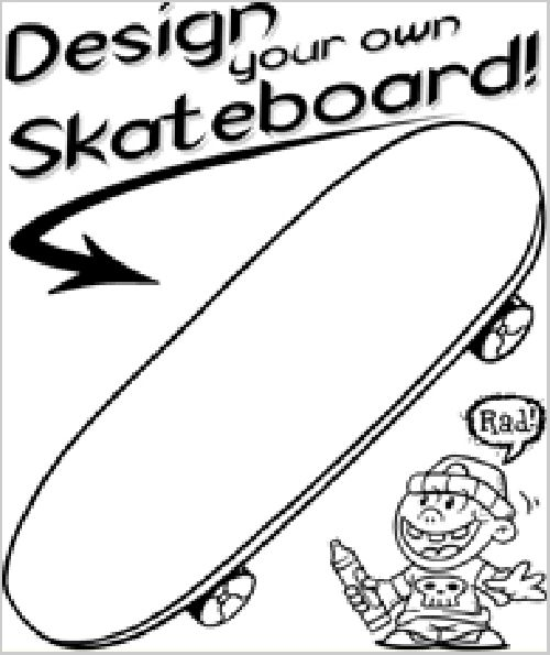 skateboard Art Worksheets Pinterest Coloring pages