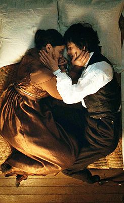 "Abbie Cornish and Ben Whishaw portray the characters of Fanny Brawne and John Keats respectively in the beautiful movie ""Bright Star""......."