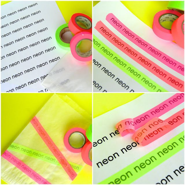 transfer words or designs onto washi tape