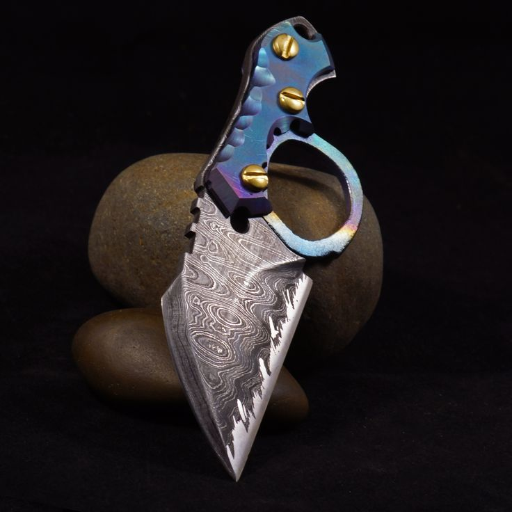 Custom Knives handmade in Portland,OR by OOAK Forge. Damascus blades, brass and titanium handles, you name it we can do it. WWW.OOAKFORGE.COM #customknife #knife #knives #customknives #giftforhim #camping #madeinamerica #madeintheusa #ooakforge