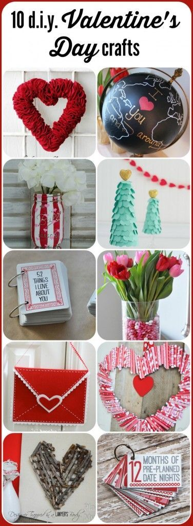 LOVE THESE! 10 fabulous Valentine's Day Crafts, rounded up by Designer Trapp…
