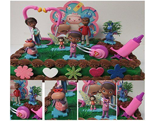 """Disney DOC MCSTUFFINS 16 Piece Cake Topper Set Featuring Doc McStuffins, Stuffy, Hallie, Dr. Myiesha McStuffins, Marcus McStuffins and Frida Fairy, Themed Decorative Accessories, Figures Average 2"""" to 4"""" Tall -- Find out more about the great product at the image link."""
