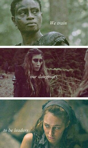 I love that the Grounder leaders are all women and they're all fierce, but I do not like the lady on the top (can't remember her name)